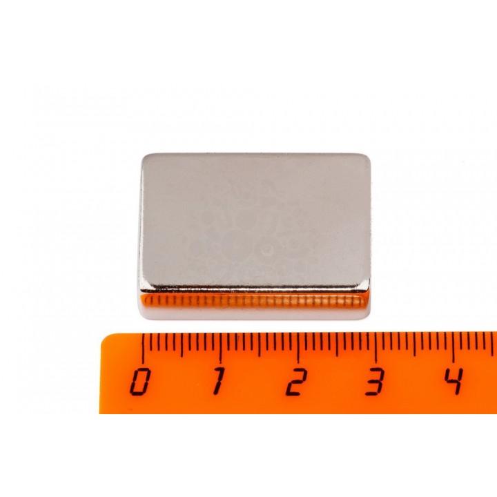 Купить неодимовый магнит прямоугольник 30х20х10 мм в Минске